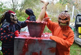 A lot of apparently hungry spooks were spotted along the Two Rivers Wildlife Park's Fright Night trail this week as the park prepares for its scariest trail yet. The major fundraiser for the park opens Friday. Tickets are by presale only this year. Sharon Montgomery-Dupe/Cape Breton Post