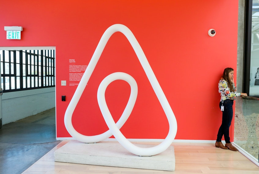 The Airbnb office headquarters in the SOMA district of San Francisco, Calif. REUTERS/Gabrielle Lurie/File Photo