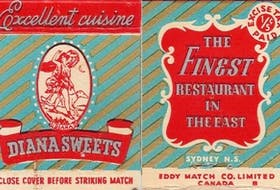 Matchbook advertising Diana Sweets, which was co-owned by Michael Vallas, Blaise Koufis and John Raptis. CONTRIBUTED