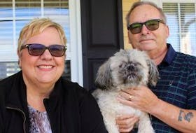 ['<p>Vicki Homes with her husband, Dan, and their dog Monty outside their house in Summerside. Homes suffered a traumatic brain injury over four years ago. Now she wants to start a support group for people with similar experiences.</p>\n<p>&nbsp;</p>']