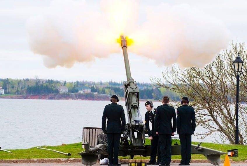 The P.E.I. Regiments fires 21-gun salute Monday.
