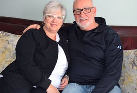 Cape Breton Regional Police Chief Peter McIsaac relaxes with wife Lydia at home in Sydney. McIsaac said through life and battling post-traumatic stress disorder, Lydia has been 'his boulder.' Sharon Montgomery-Dupe/Cape Breton Post