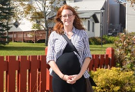 CBRM mayoral candidate Amanda McDougall is shown here standing in front of the old Glace Bay town hall. The District 8 councillor is one of six candidates running for mayor of the municipality. DAVID JALA/CAPE BRETON POST