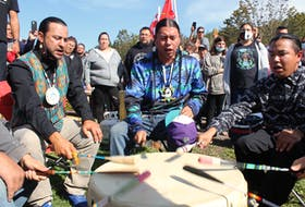 Eskasoni's East Boy's were also on hand to take part in the celebration