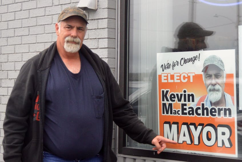 CBRM mayoral candidate Kevin MacEachern is running his campaign from the convenience store he and his wife recently opened in the north end of Sydney. The local businessman says he entered the race with the intent of helping residents across the municipality. DAVID JALA/CAPE BRETON POST