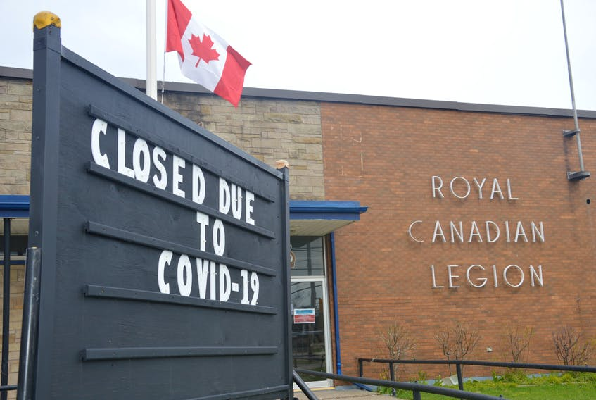 Royal Canadian Legion branches across the country have been closed since March because of the COVID-19 pandemic. For the first time in its 95-year history, the Royal Canadian Legion national headquarters has released $3 million to help struggling branches as a result of COVID-19. JEREMY FRASER/CAPE BRETON POST