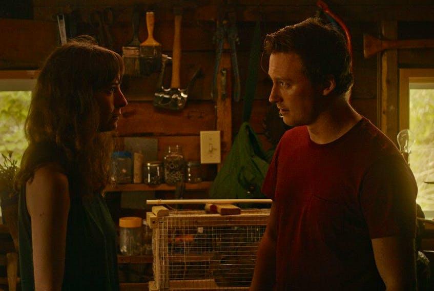 Director/writer/star Madeleine Sims-Fewer and Obi Abili in Violation.