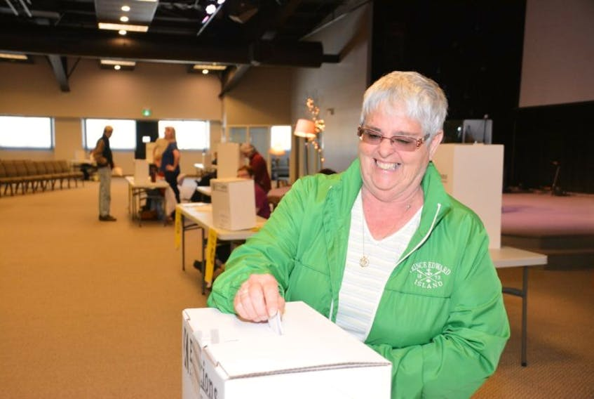 Islanders everywhere are heading to the polls today. Inclduing Rose Pierce who cast her ballot at Centre 150 in Summerside's industrial park