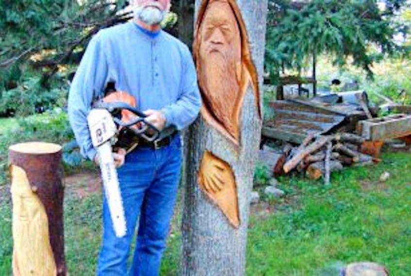 """[""""<p>Wayne Ellis's favourite work-in-progress is a six-foot """"Tree Wizard.""""</p>""""]"""
