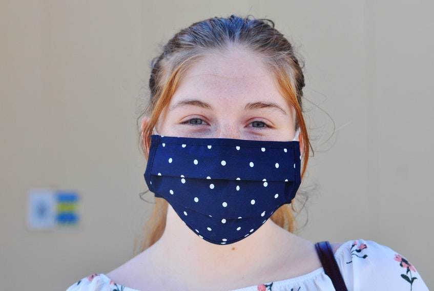 Monday marked the first day of mandatory mask wearing in Newfoundland and Labrador. Shelby Rowe of Corner Brook said she had no issues with having to wearing a mask as she lined up to go shopping at Walmart in Murphy Square the city late in the afternoon.