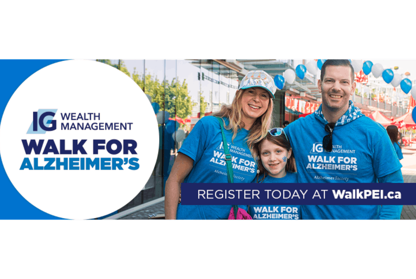 Alzheimer Society of P.E.I.'s annual IG Walk for Alzheimer's takes place Saturday, May 26 in Charlottetown.