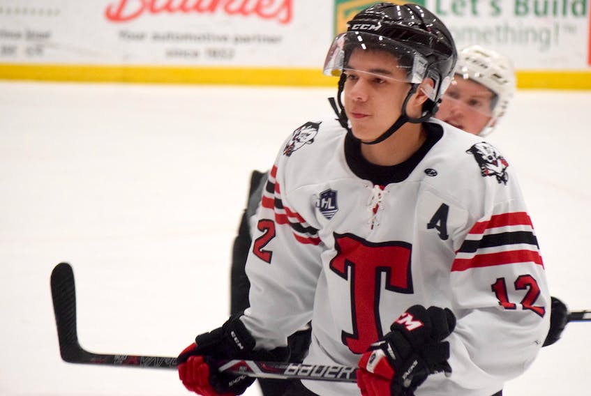 G Blackmore notched a goal and helped set up two others as the Truro Bearcats skated to a 5-4 win over the Pictou County Crushers in a MHL exhibition game on Thursday, Sept. 5.