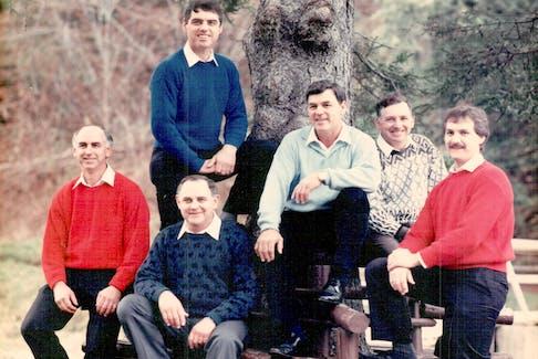 The six Matheson brothers – Glenn, left, Randy, Gary, Bobby, Trueman and Robin.
