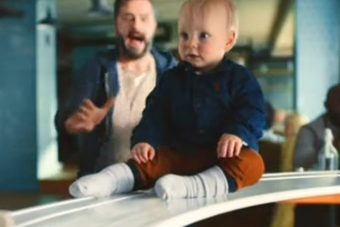 """A screenshot from Mondelez U.K.'s Philadelphia Cream Cheese ad. The Advertising Standards Authority says it perpetuates """"harmful"""" gender stereotypes."""