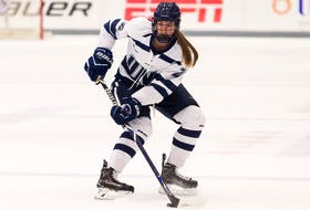 Julia Scammell, of Murray Siding, is adjusting to the challenges of combining athletics and academics in the NCAA with the University of New Hampshire Wildcats. Scammell is in her sophomore season with the club and continues to make great strides at the top U.S. college level. GREG GREEN PHOTO