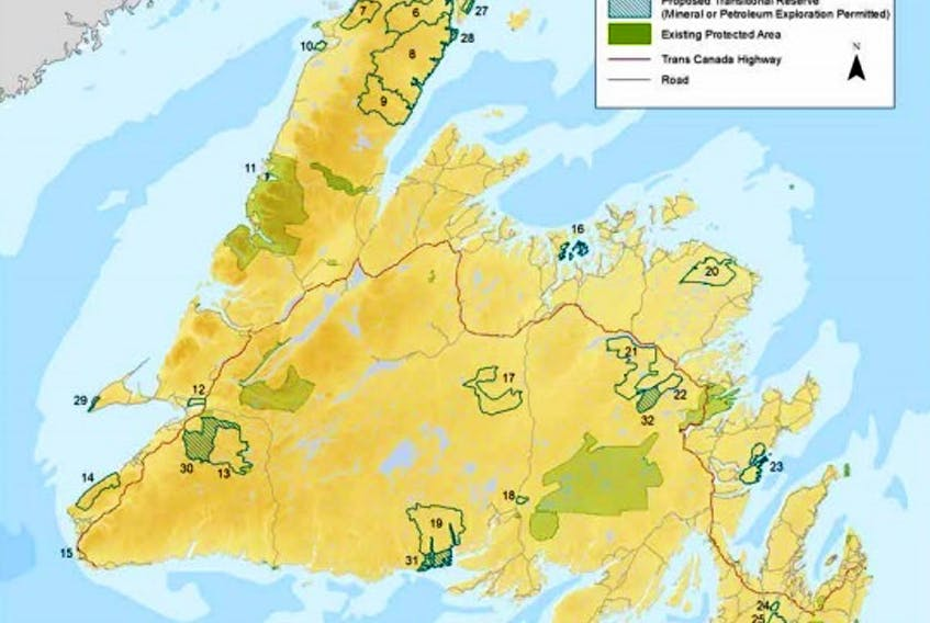 The WERAC report highlights 32 proposed protected areas on the island portion of the province.