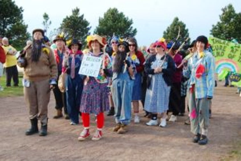 """[""""A group of 'hobos' from the O'Leary area were out 'beggin for a cure' Friday during the fifth annual Westisle Relay for Life. The efforts of the 33 teams entered in the event raised $102,000 for the fight against cancer.""""]"""