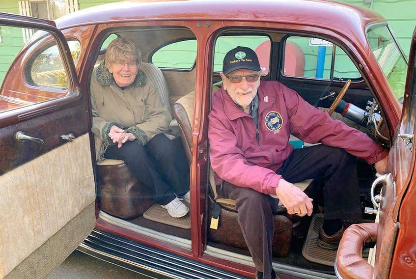 Rene and Judy Doyharcabal love to go for drives in their modified 1941 Dodge Kingsway sedan. Alyn Edwards/Postmedia News