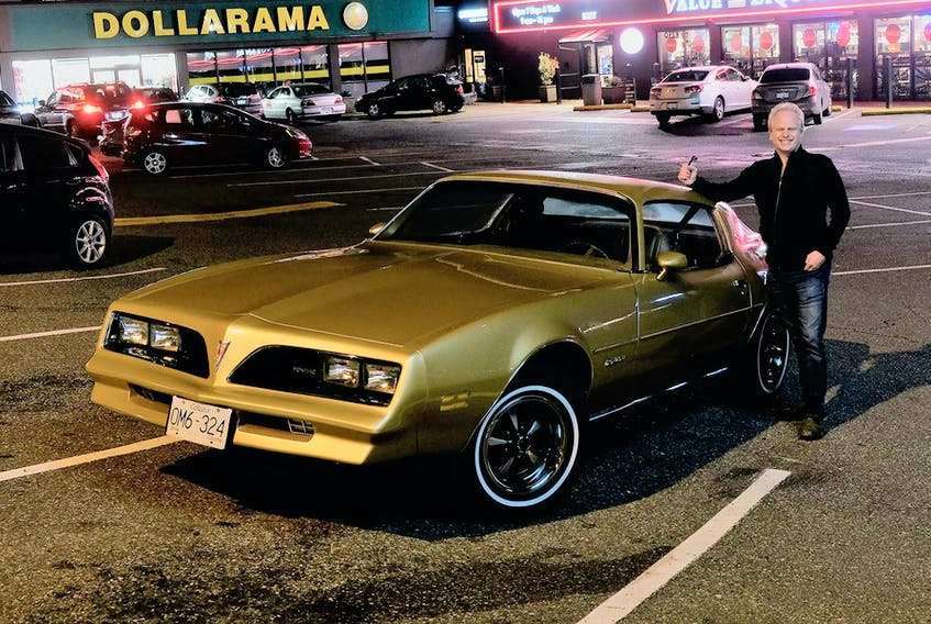 Film industry location scout Dave Small with his restored 'Rockford correct' 1978 Firebird.  Dave Small photo