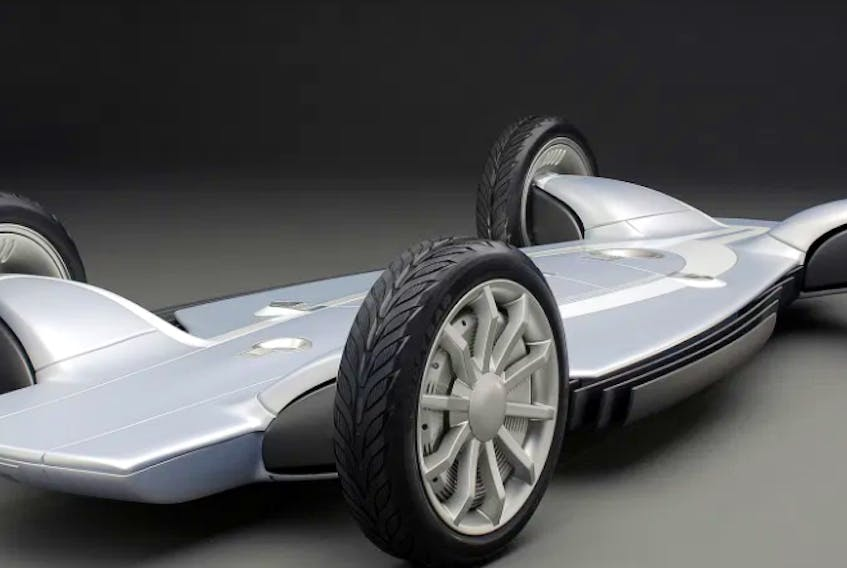 The chassis for the GM Autonomy concept car. General Motors