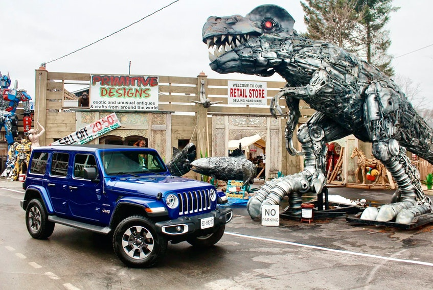 Our first stop with the Wrangler Unlimited EcoDiesel was Primitive Designs in Port Hope, Ont.. Peter Bleakney/Driving