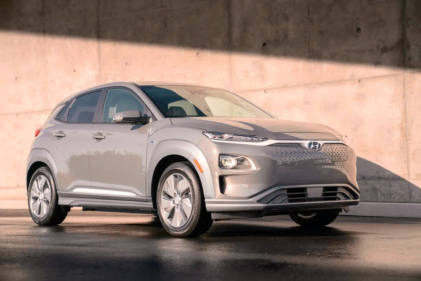 Nationally, new motor vehicles unit sales in Canada increased 42.9 per cent in the first four months of this year. Shown is the 2021 Hyundai Kona Electric, named Kelly Blue Book's best electric vehicle. - Postmedia