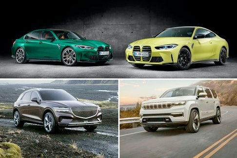 The BMW M3 and M4, Genesis GV70, and Jeep Wagoneer are among the luxury vehicles to look forward to next year.  Handout / BMW / Genesis / Jeep