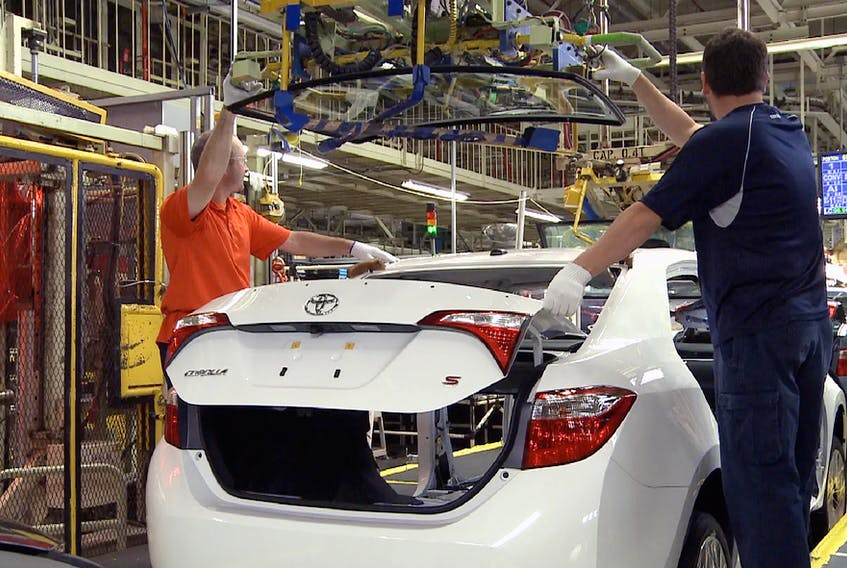 A Corolla being assembled at Toyota's plant in Cambridge, Ont. Toyota Canada/Handout