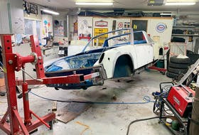 Richard Nyberg has put his VW truck to the side to focus on the restoration of this 1973 Porsche 914, a project he started in October. Contributed/Richard Nyberg