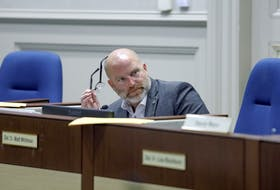 Coun. Matt Whitman takes part in a debate in Halifax council chambers on Tuesday, Jan. 17.