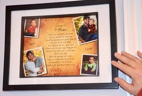 This was a special Christmas gift, a memento of Rana's two sons and grandchildren. Curtis was concerned about his brother Dustin. Both brothers were diagnosed with cancer within months of each other, Dustin has recovered. HEATHER KILLEN
