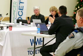 Staff Sgt. Cory Bushell presented a detailed plan to regionalize RCMP services in Windsor and West Hants to the co-ordinating committee last fall. Windsor Mayor Anna Allen and deputy mayor Laurie Murley both expressed some concerns. CAROLE MORRIS-UNDERHILL