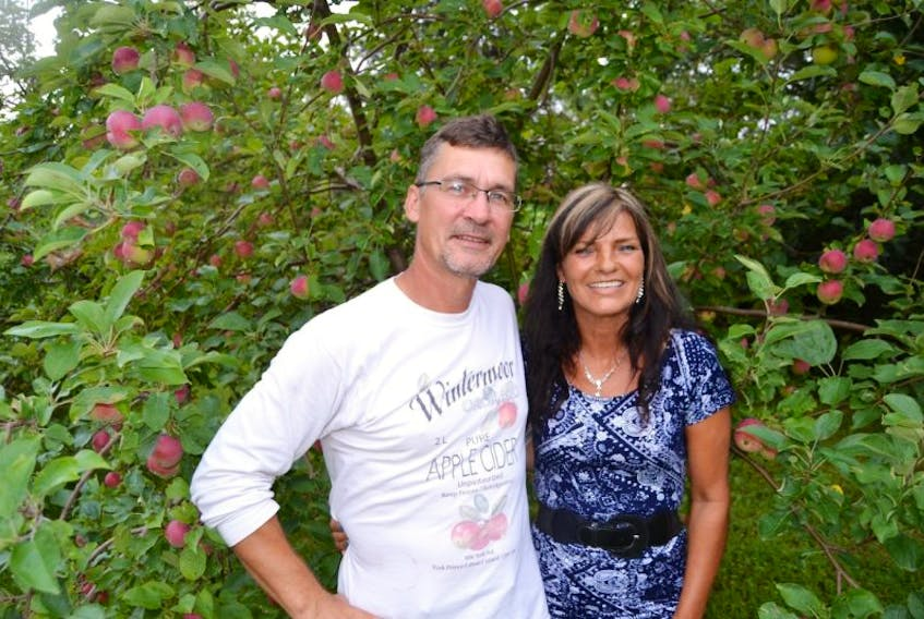 <br /> <p>&nbsp;</p> <p><span>Mark Ashley and Janine Gallant of Wintermoor Apple Orchard in York say the apples on their trees are not as plentiful as in previous years. They will have a crop, but they will not open their U-pick operation this year.</span></p>