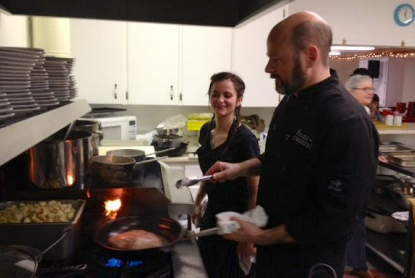 Chef Dave Smart was in charge of the kitchen Dec. 25 at the fourth annual Community Christmas Dinner in Wolfville.