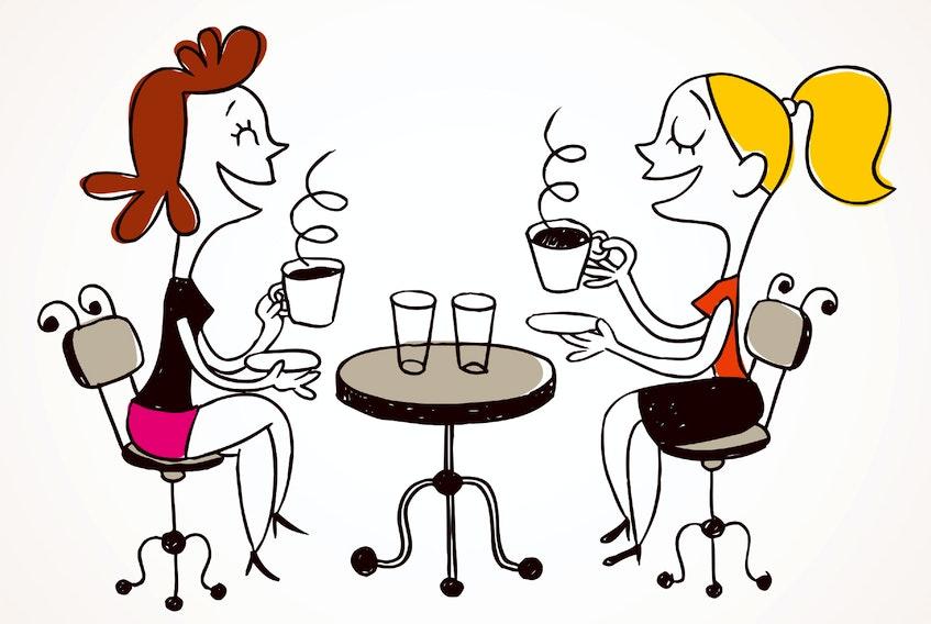 women coffee stock illustration