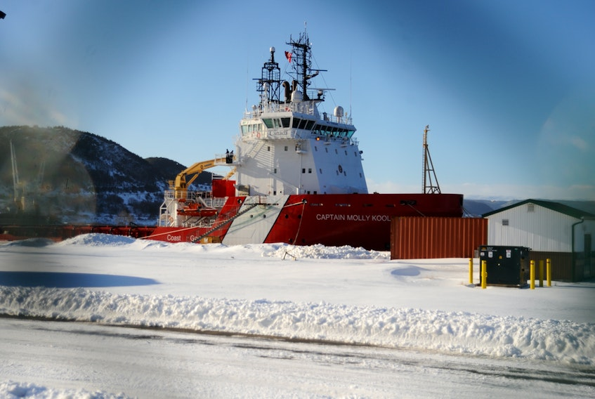 Canada's newest icebreaker, the Canadian Coast Guard Ship Captain Molly Kool, was in Corner Brook for a crew change this week before heading to St. John's to begin preparations for the winter season.