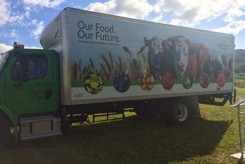 The Department of Fisheries and Land Resources rolled out its new Agri-Truck during an event at the Western Agriculture Centre: Agriculture Research Station in Pynn's Brook on Tuesday.