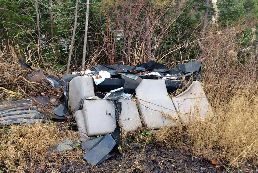 This is just a portion of the trash found at Lady Slipper Road over the weekend.