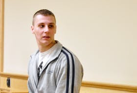 Dillon Bourgeois is shown in provincial court in this file photo.