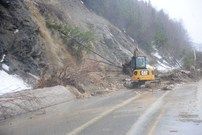 Bay of Islands communities are still waiting for repairs to be made to roads in the area that were damage during winter storms.