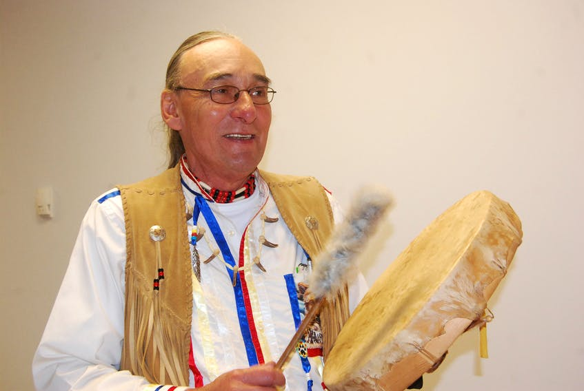 """Victor Muise has a new book on the Mi'kmaq culture entitled """"The Words of the White Wolf."""""""