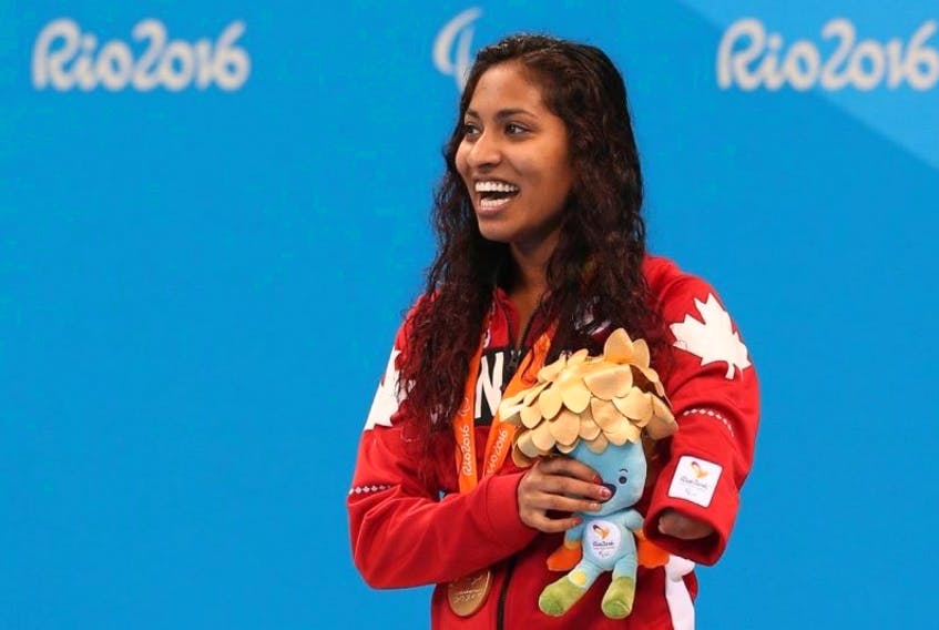 Kippens athlete Katarina Roxon is shown here competing in the 2016 Olympic Summer Games in Rio de Janeiro, Brazil in this file photo. She will wear Canadian colours again when she competes at the 2018 Commonwealth Games being held in Gold Coast, Australia.