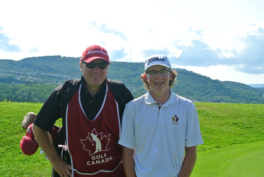 Corner Brook's Dennis Bruce will caddy for his son Andrew at the 2018 Canadian men's amateur golf championship Aug. 4-9 on Vancouver Island. It's a moment he's been waiting to do since his son became a fixture on the national golf stage.