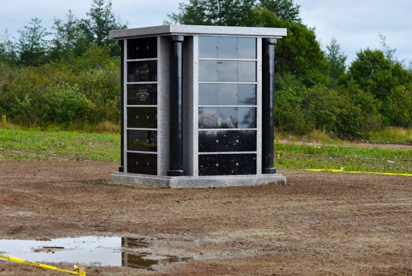 The new columbarium at Hillside Interfaith Cemetery serving Stephenville and Kippens was installed at the location on July 7 and had its first urn placement in mid-August.