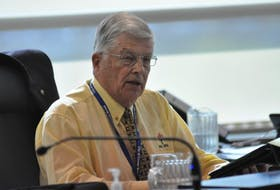 Corner Brook Deputy Mayor Bernd Staeben is seen during Monday's public council meeting.