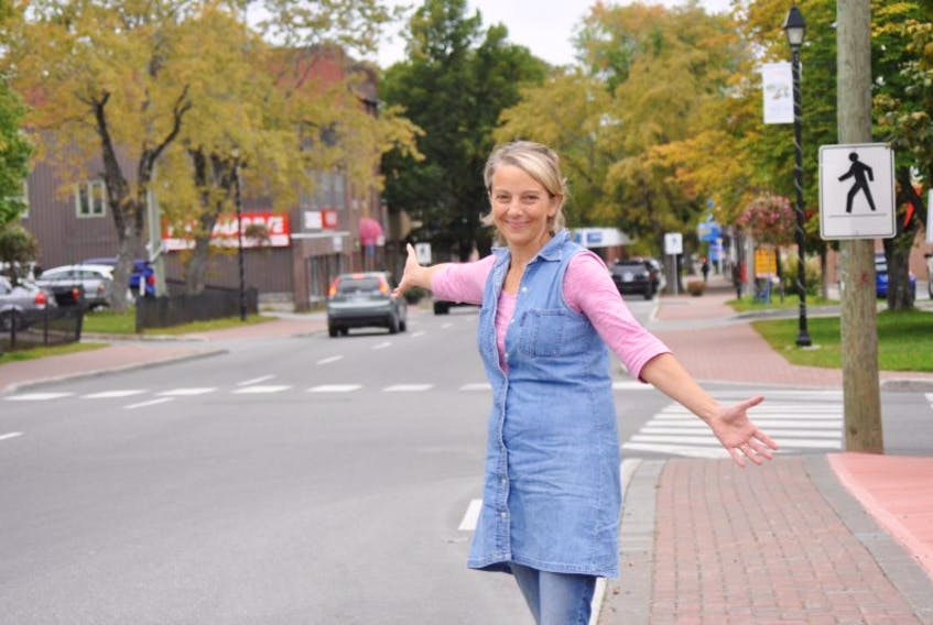 Nuit 150 co-cordinator Louise Gauthier poses for a photo along West Street in Corner Brook earlier this week. It will be the first time a Nuit Blanche festival has been held in Newfoundland.