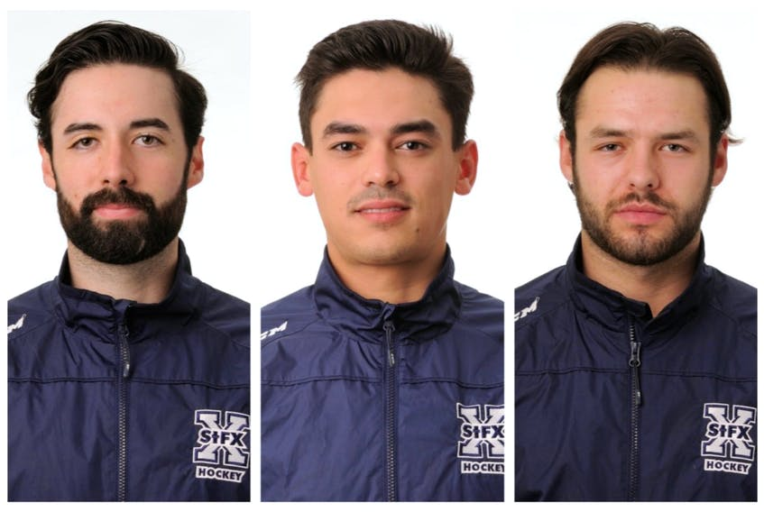 St. Francis Xavier X-Men hockey players Santino Centorame, Adam Laishram and Daniel Robertson lost their condo in a June 19, 2020 fire in Antigonish. (CONTRIBUTED)