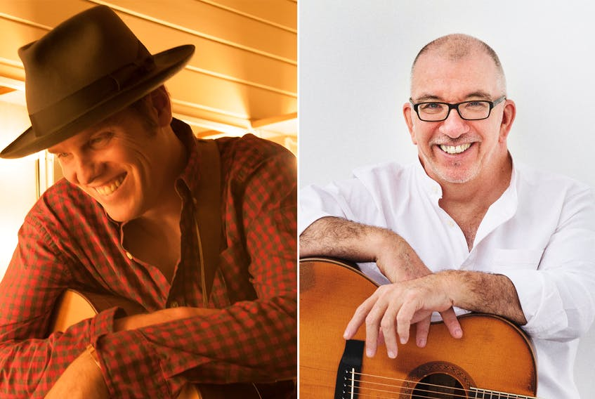 Dave Gunning (left photo) and James Keelaghan will perform in concert at Harbourfront Theatre in Summerside on Jan. 12