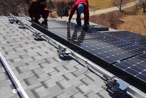 An example of solar panel installation. CONTRIBUTED