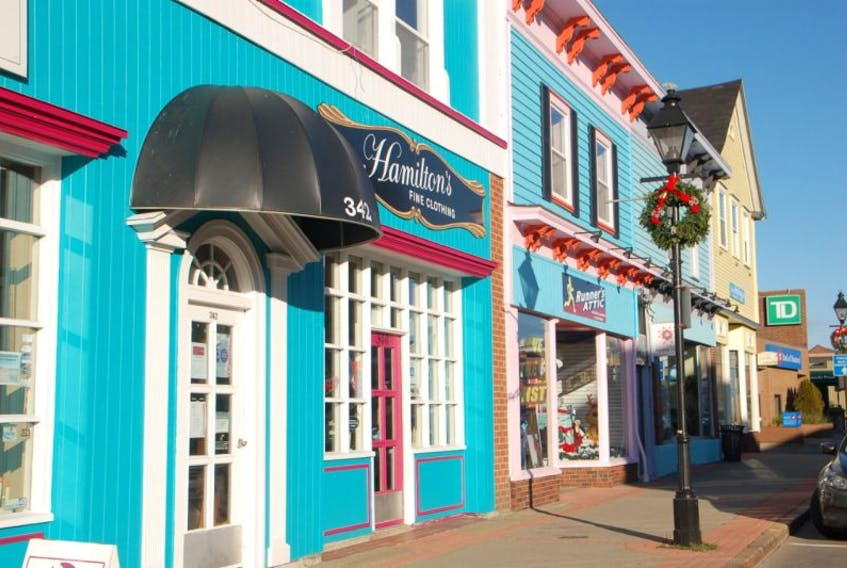 <p>The majority of Yarmouth's façade improvements involved painting with bright colours. Some buildings received much more work, including full refurbishment of stonework, millwork and new windows, as well as awnings and signage.<br />CARLA ALLEN PHOTO</p>